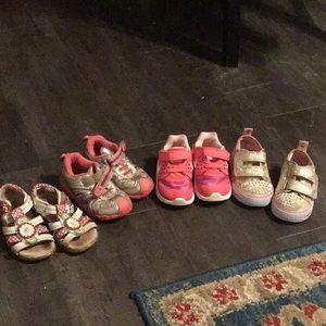 5m toddler shoe bundle stride rite Nike Skechers